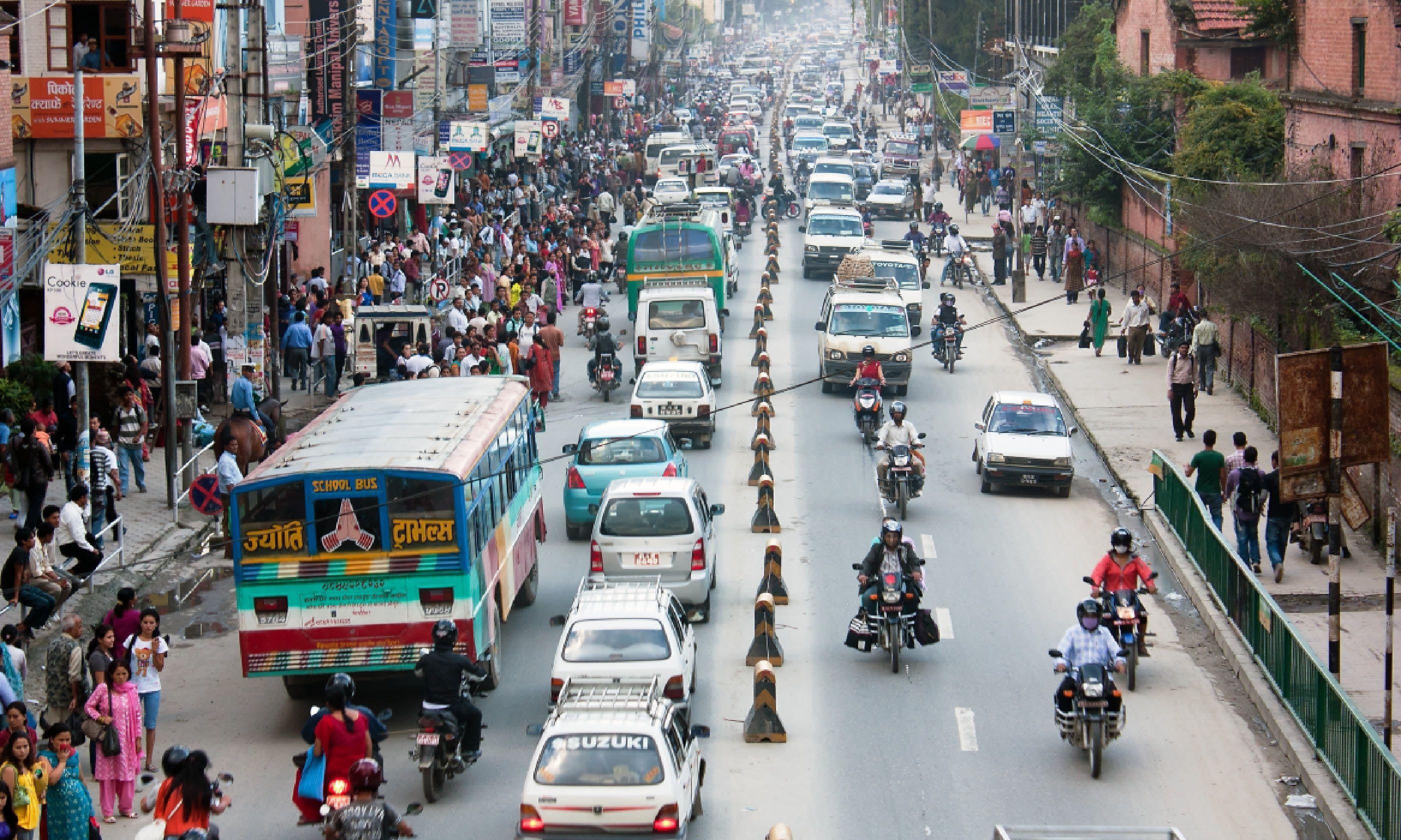 Kathmandu traffic (Shutterstock)