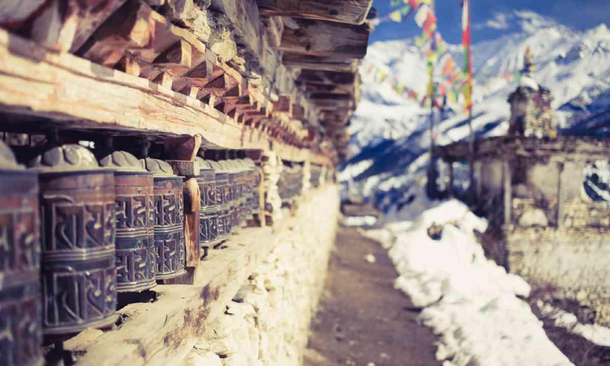 Prayer wheels, Nepal (Shutterstock)