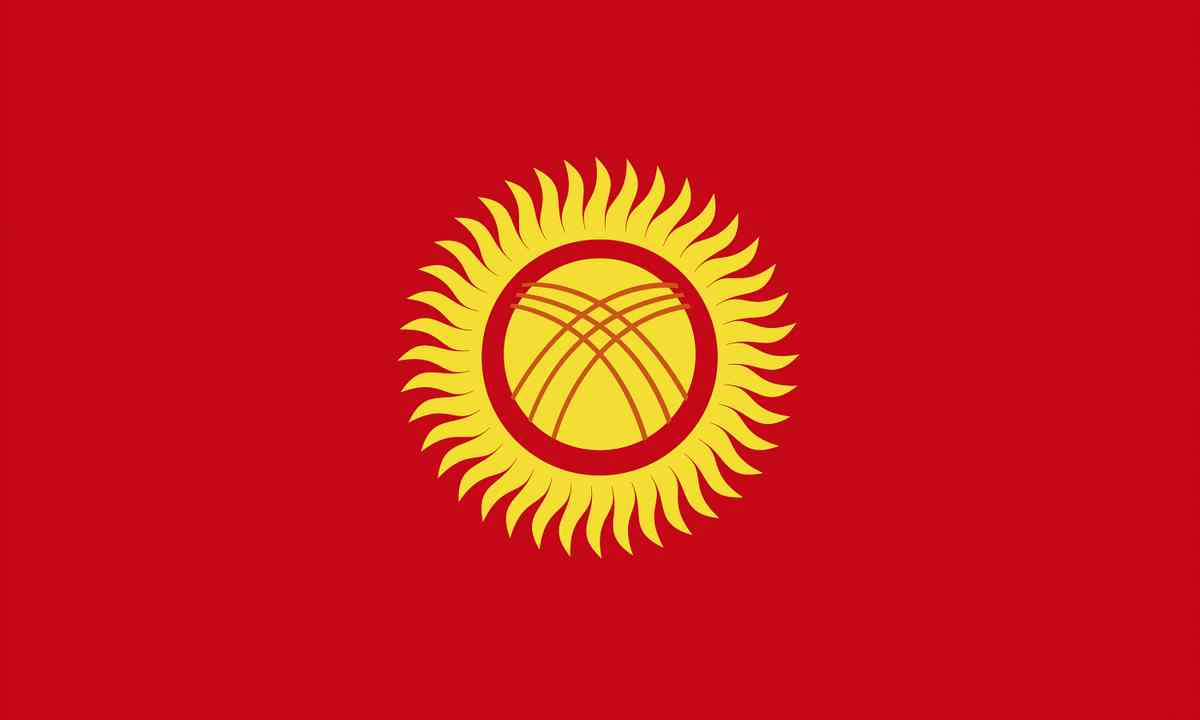 National flag of Kyrgyzstan (Shutterstock.com)