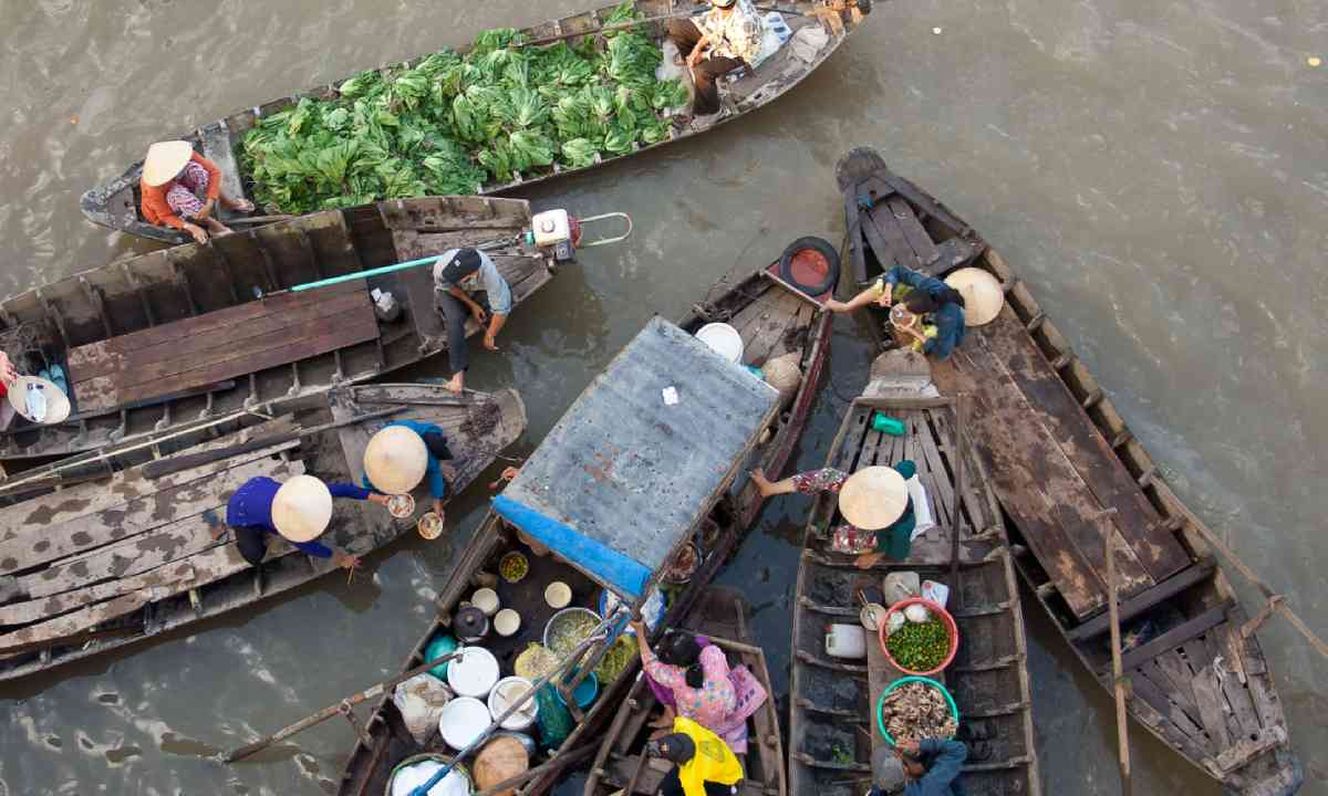 Floating market, Mekong Delta (Shutterstock)