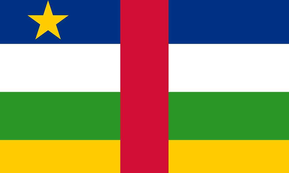 National flag of Central African Republic (Shutterstock.com)