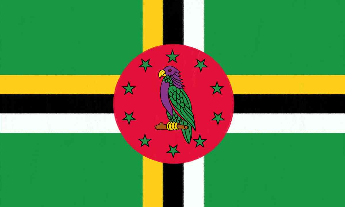The national flag of Dominica (Shutterstock.com)