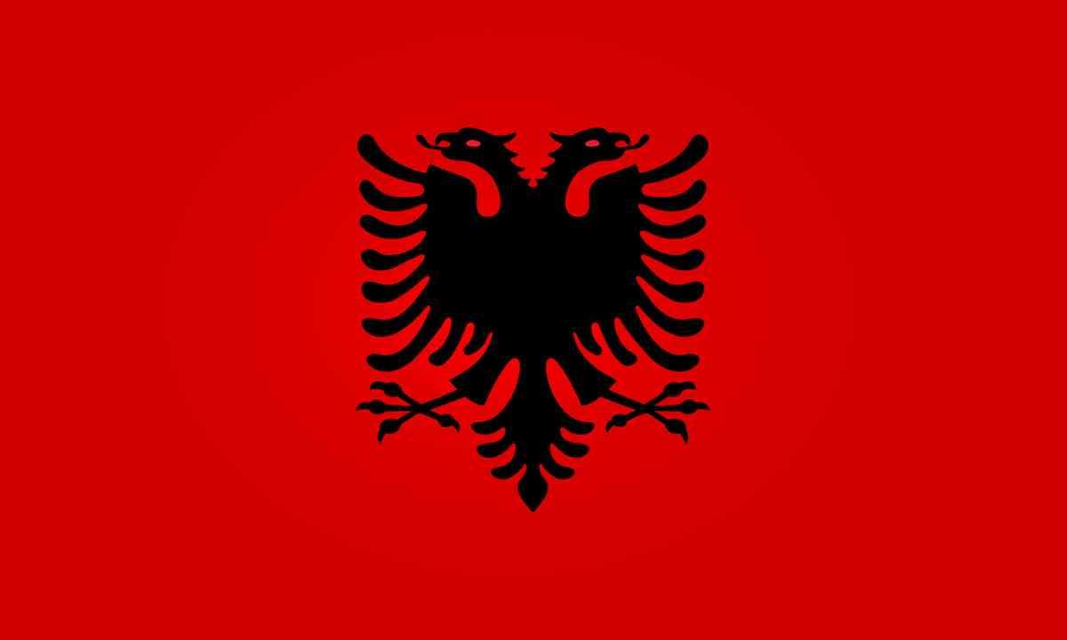 National flag of Albania (Shutterstock.com)
