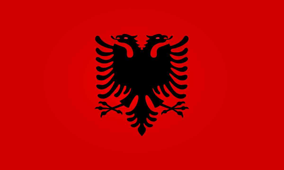 National flag of Albania (Shutterstock.com)