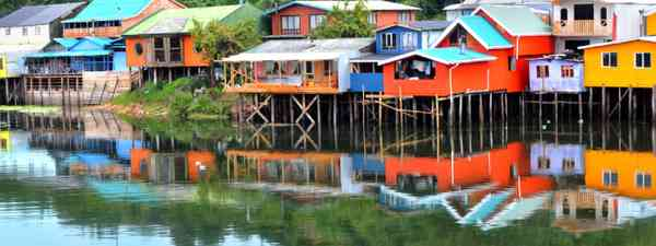 Palafitos, the traditional houses of Chiloe Island (Shutterstock)