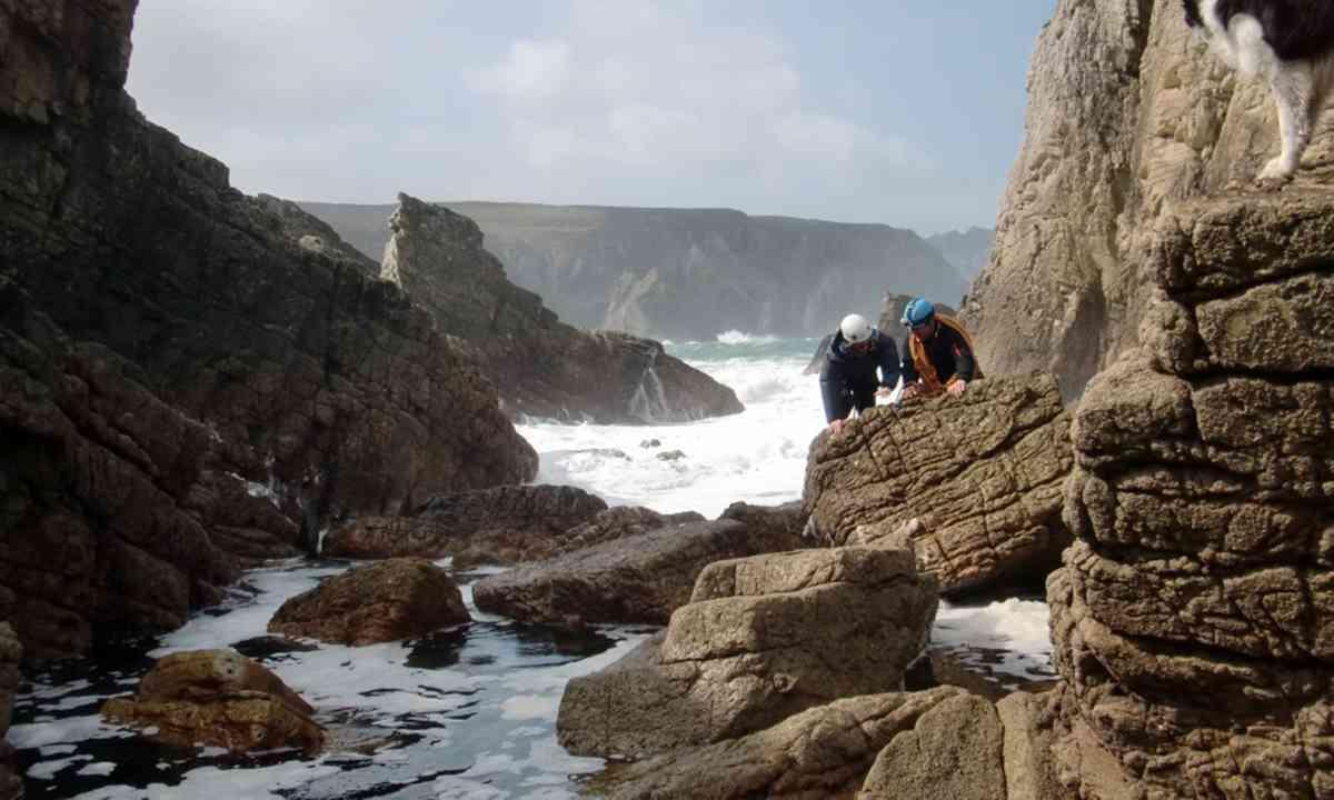 Climbing sea stacks near Donegal (FarawayVisions.com)