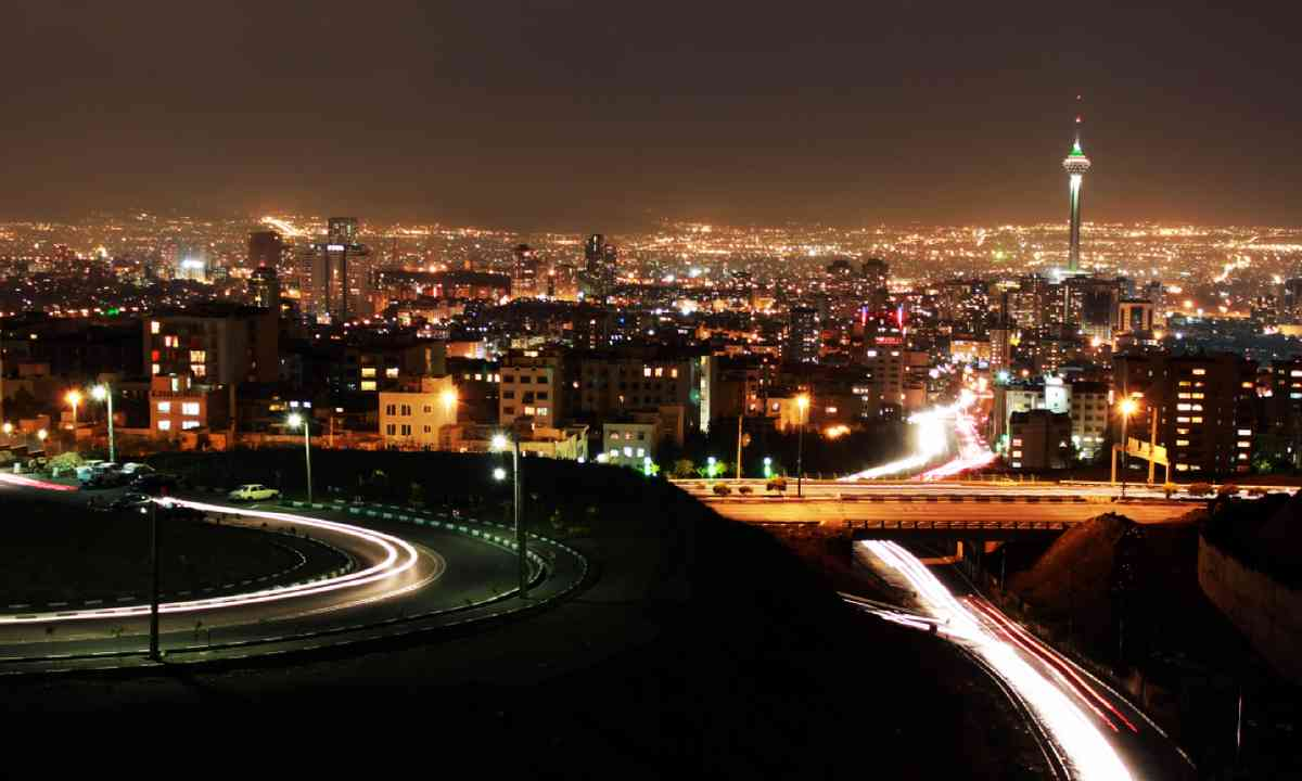 Tehran skyline at night (Shutterstock)