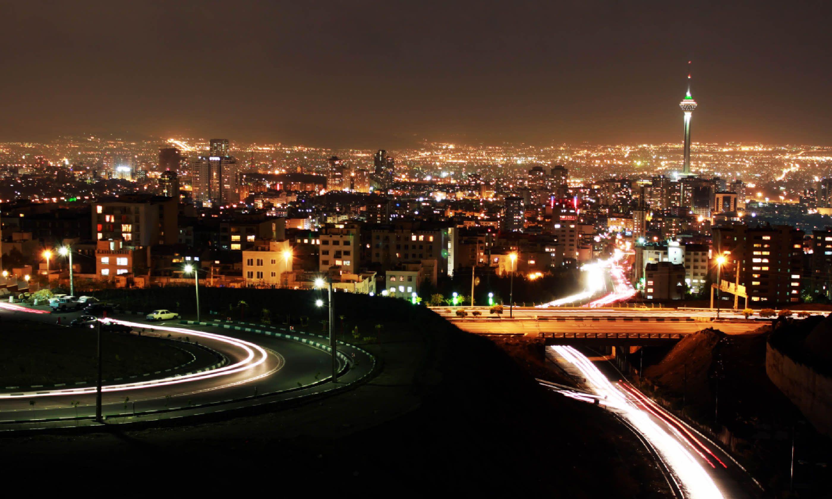 Tehran skyline at night (Shutterstock)