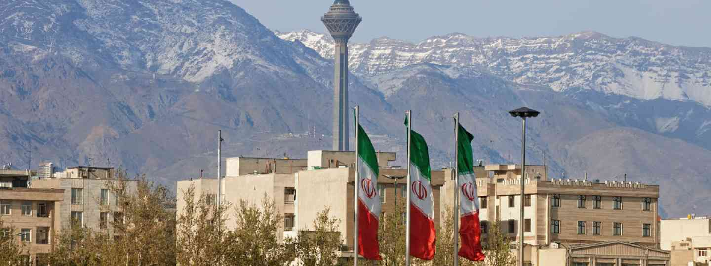 Milad Tower and Alborz Mountains, Tehran