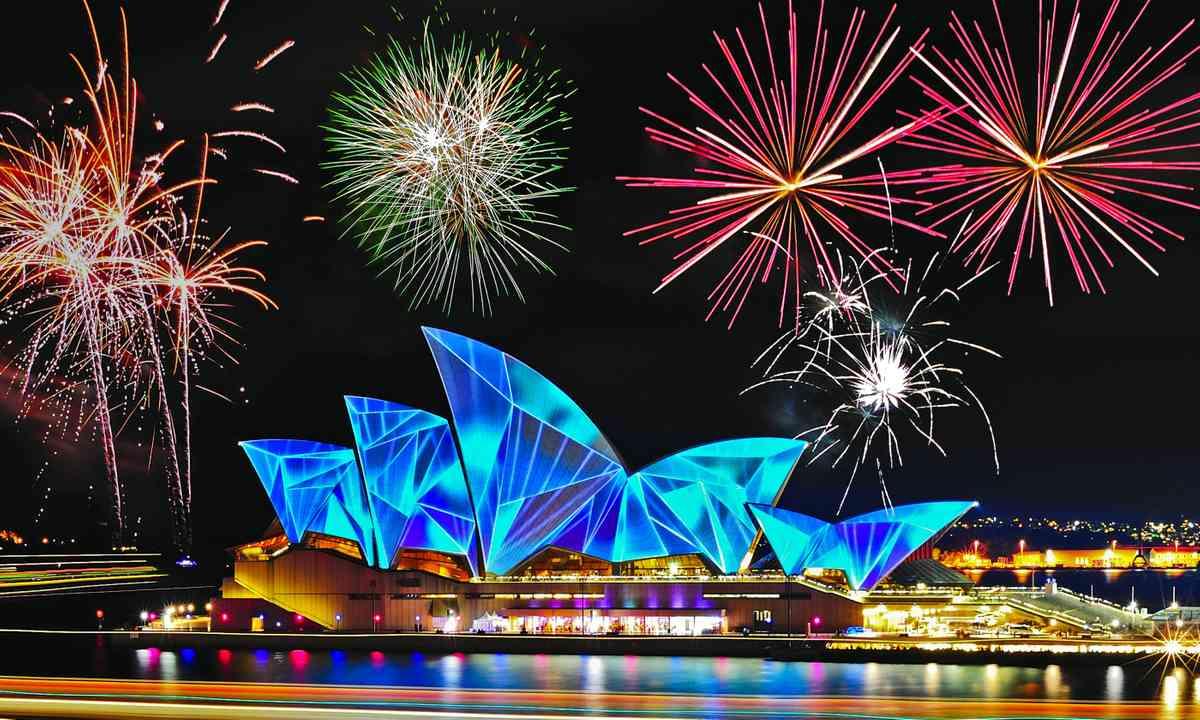 Sydney during Vivid (Shutterstock.com)
