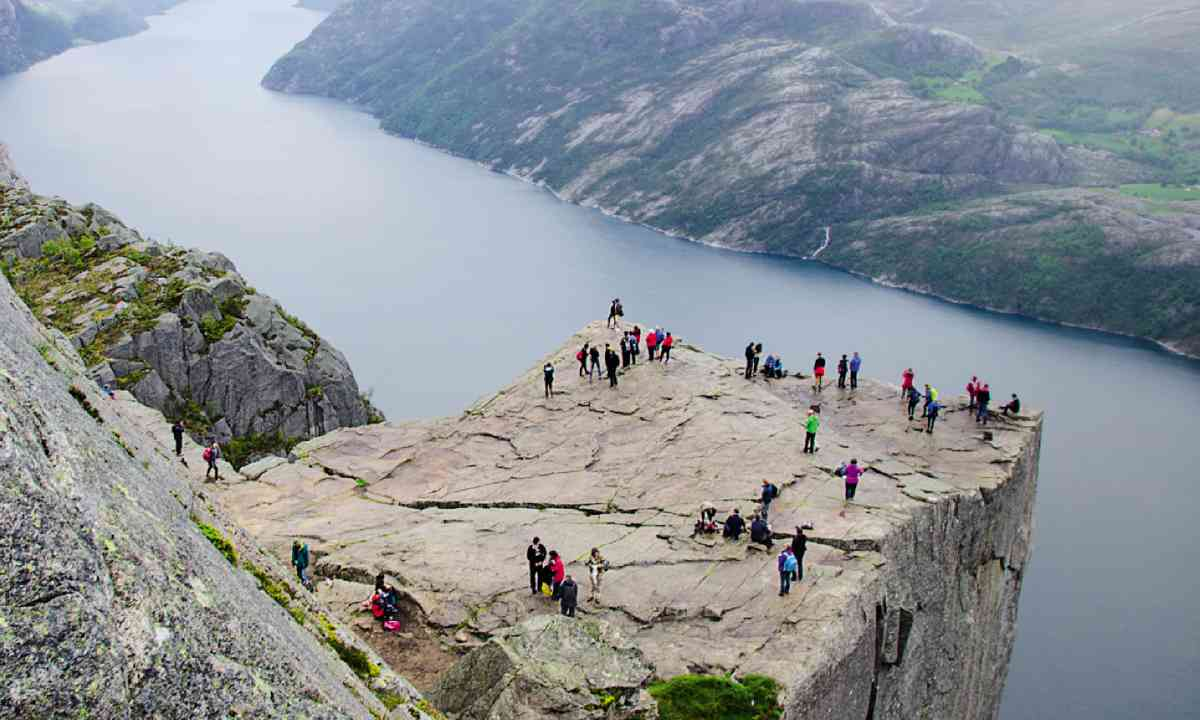 Looking down on Pulpit Rock and its terrifying glory (Neil S Price)