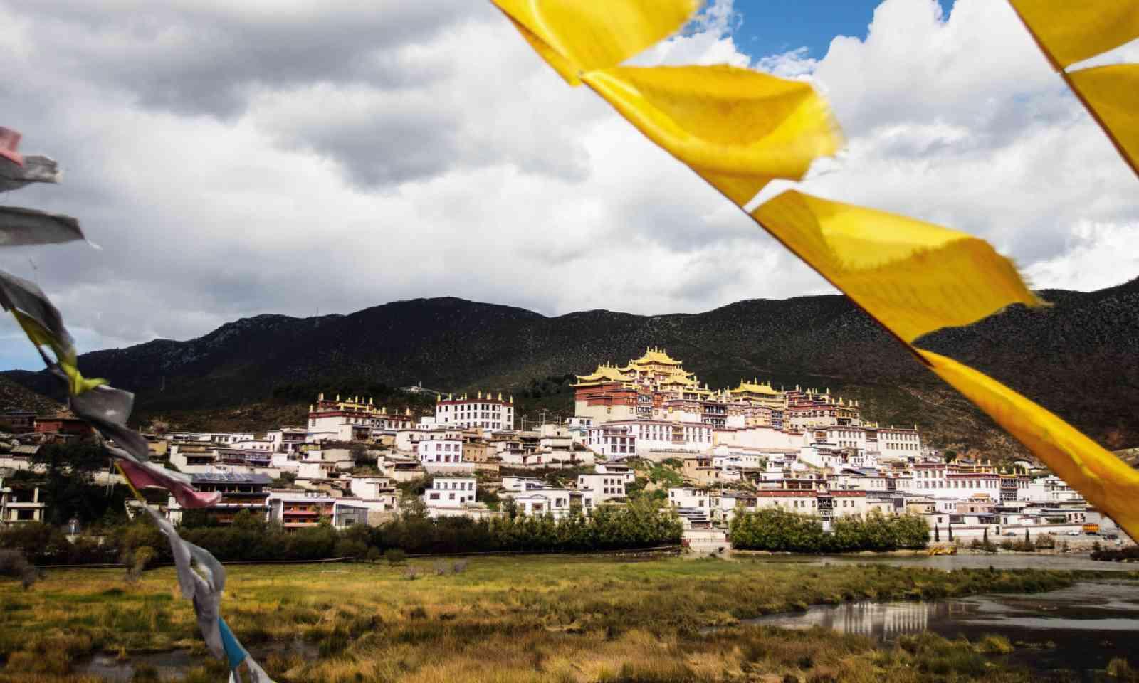 The 17th-century Ganden Sumtsenling Monastery, Yunnan (David Abram)