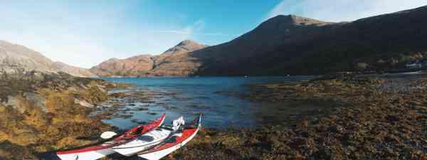 Kayaking on Scotland's west coast (Emma Higgins)
