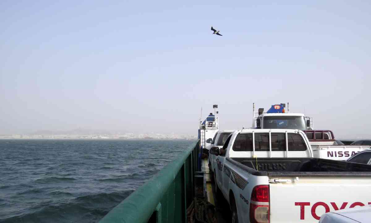 The car ferry to Masirah Island (Hazel Plush)