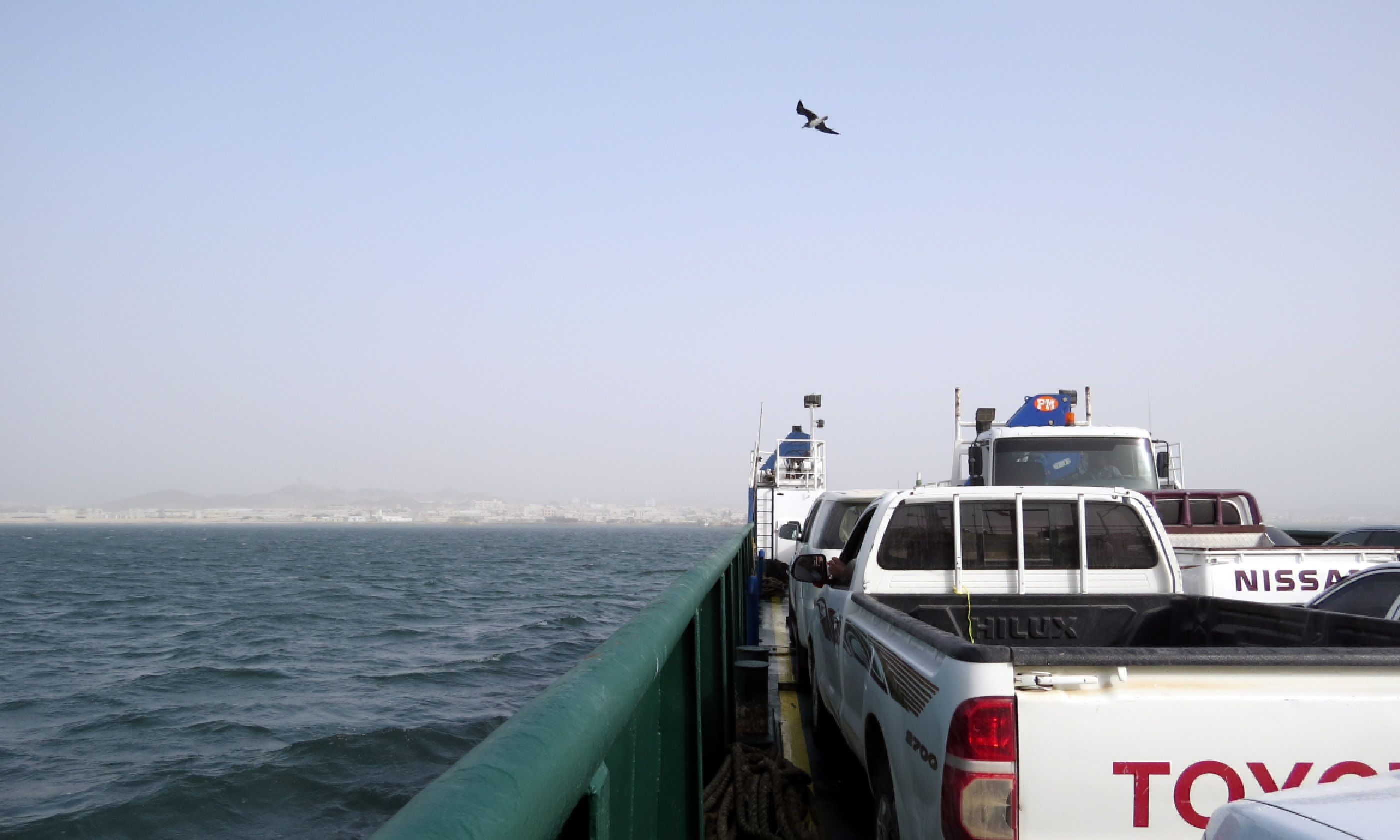 The car ferry to Masirah Island (Hazel Plush)