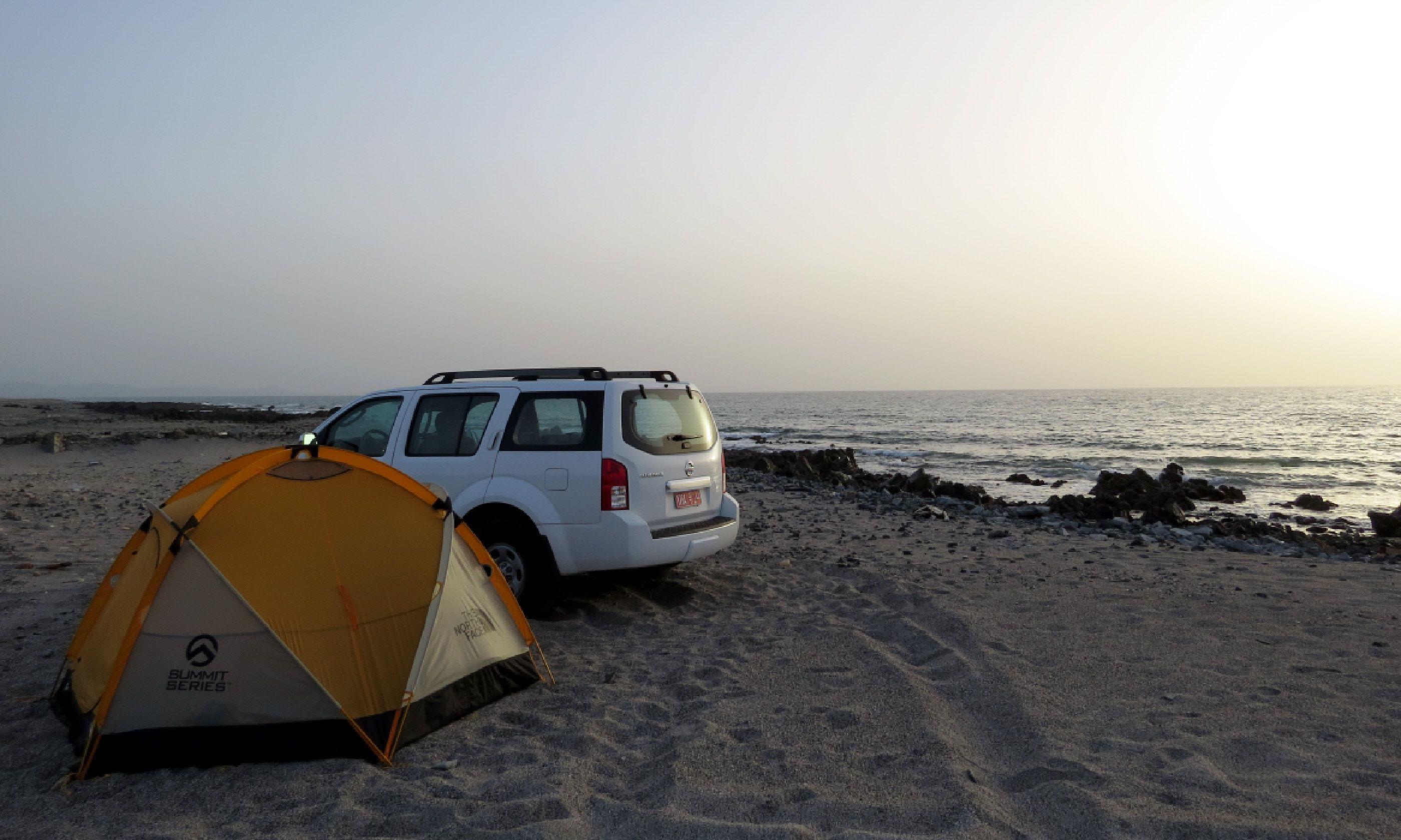 Wild camping on Masirah Island (Hazel Plush)