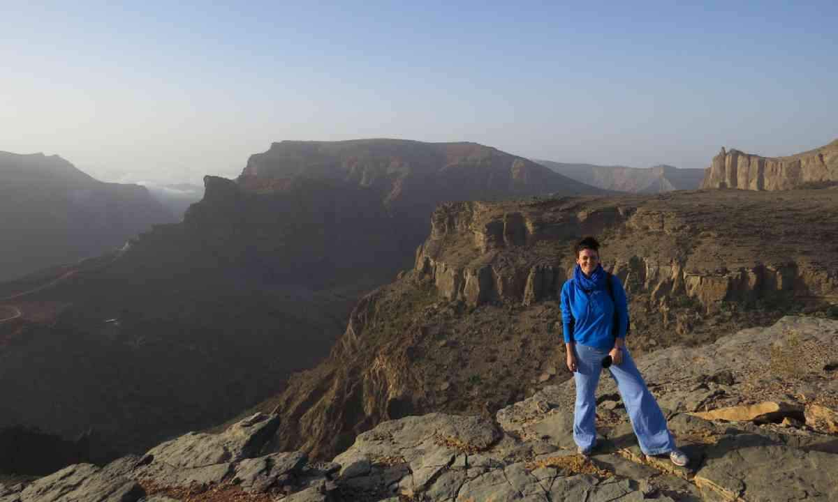 Camping in the Western Hajar mountains, at dawn (Hazel Plush)