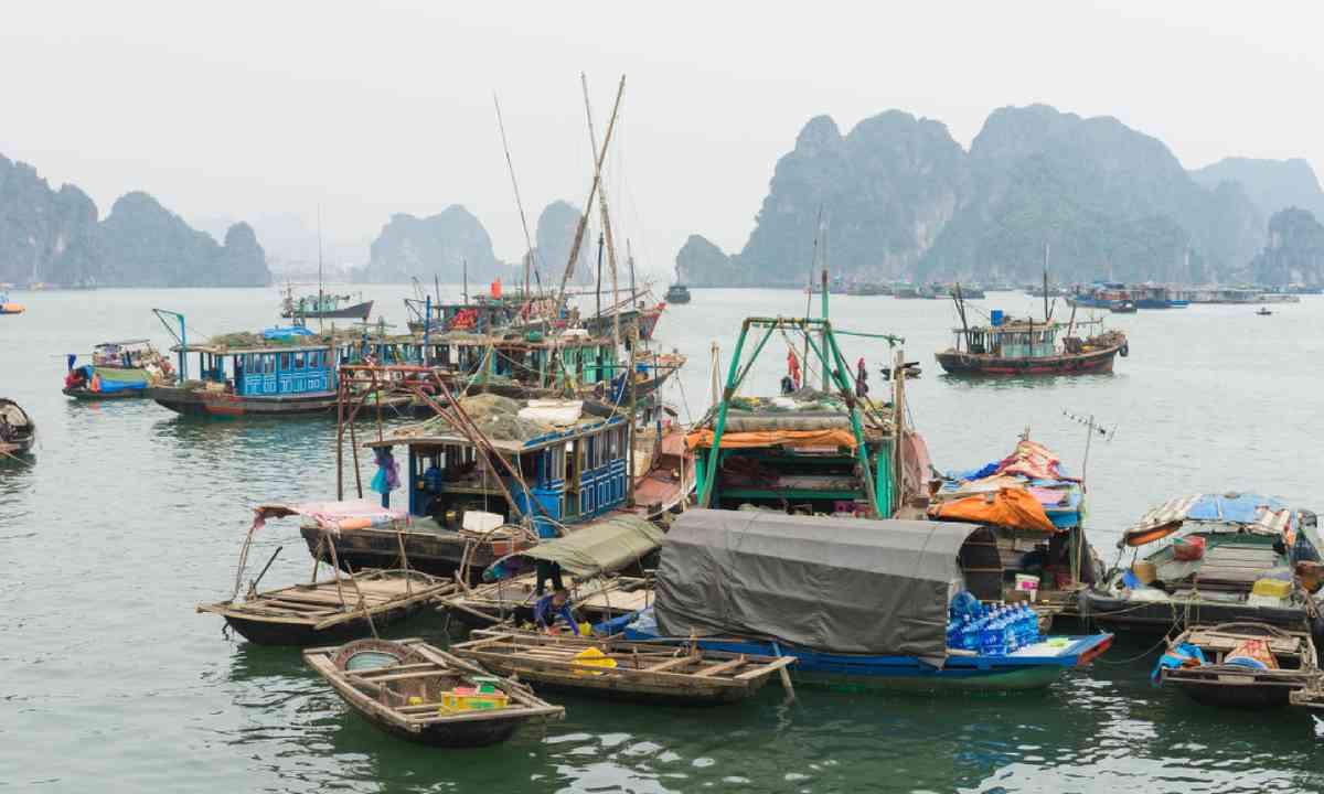 Fishing village in Bai Tu Long Bay (Shutterstock)