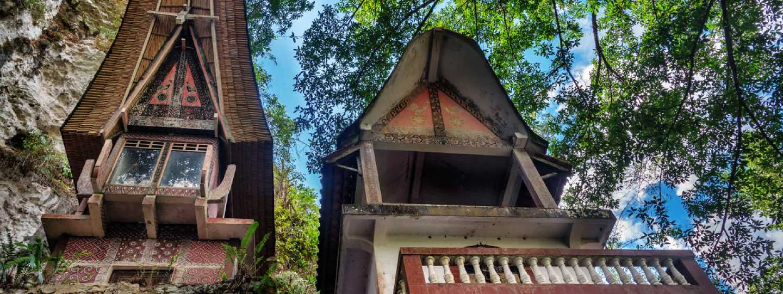 Toraja traditional funeral tomb in Buntu Pune village