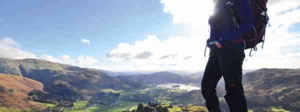 Gazing down to Grasmere from the 'Lion' of Helm Crag (Neil S Price)