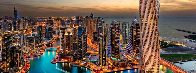 Dubai's marina at night (Shutterstock)