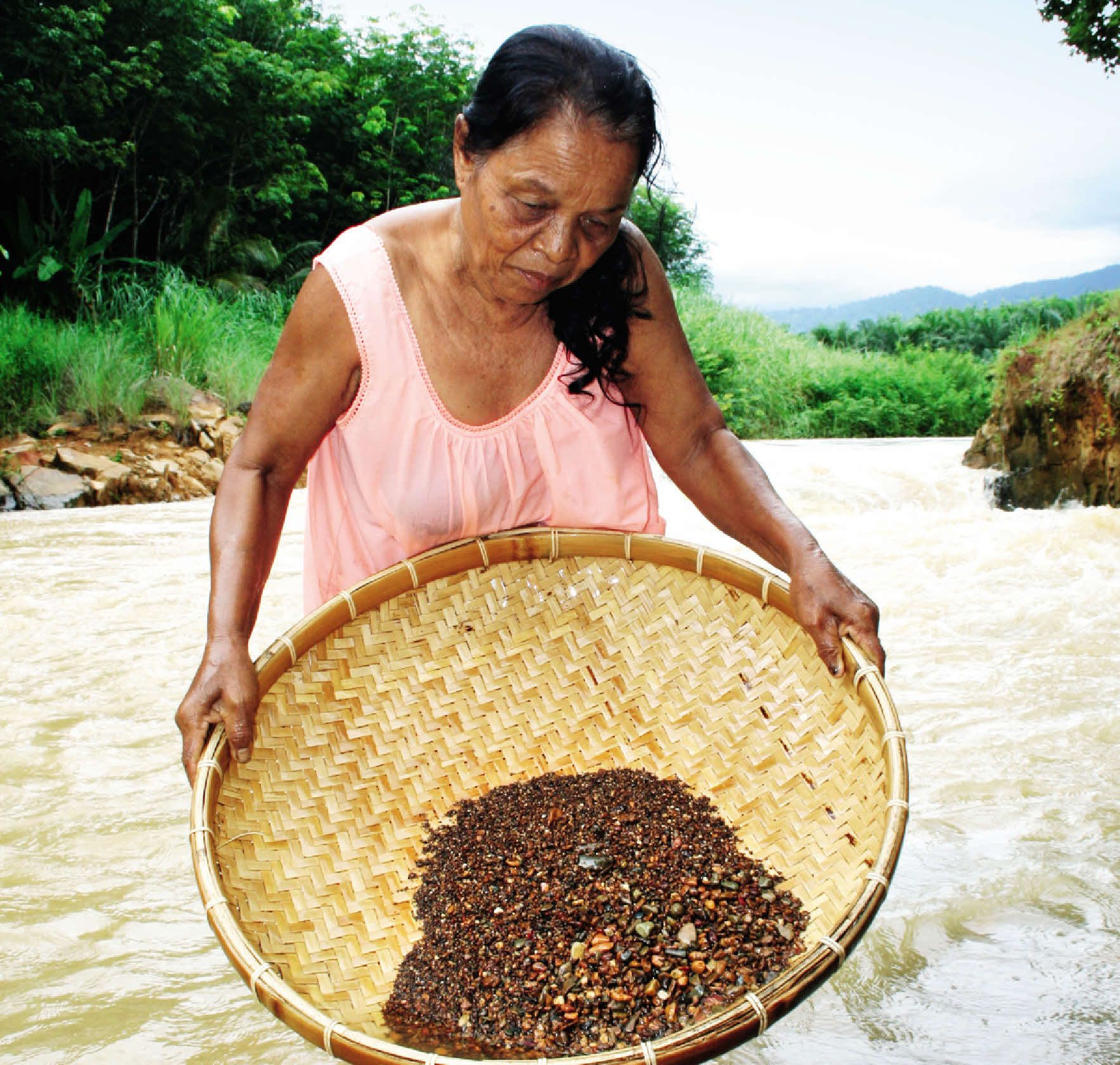 Sifting for gems the traditional way (Martin Symington)