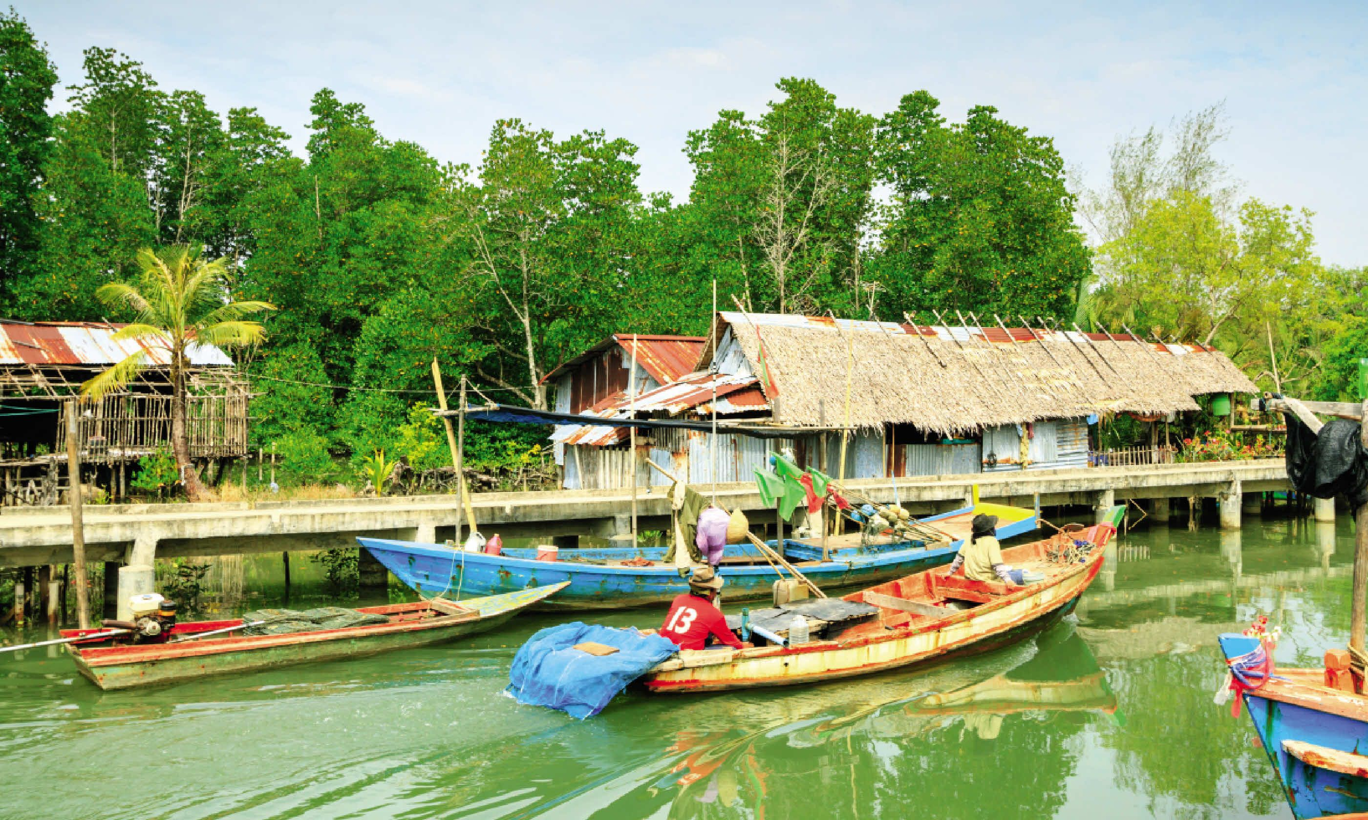 A fishing village in Trat Province (Dreamstime)