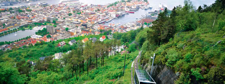 The Floyen funicular, Bergen, Norway (Neil S Price)