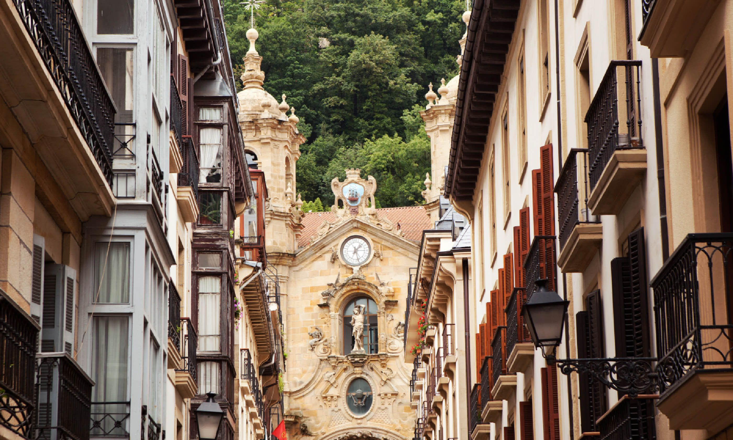 The church in the old town of San Sebastian, Spain (Shutterstock)