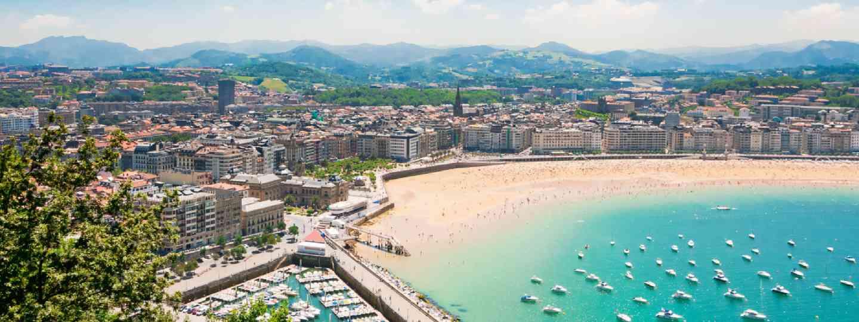 Beach in San Sebastian Spain (Shutterstock)