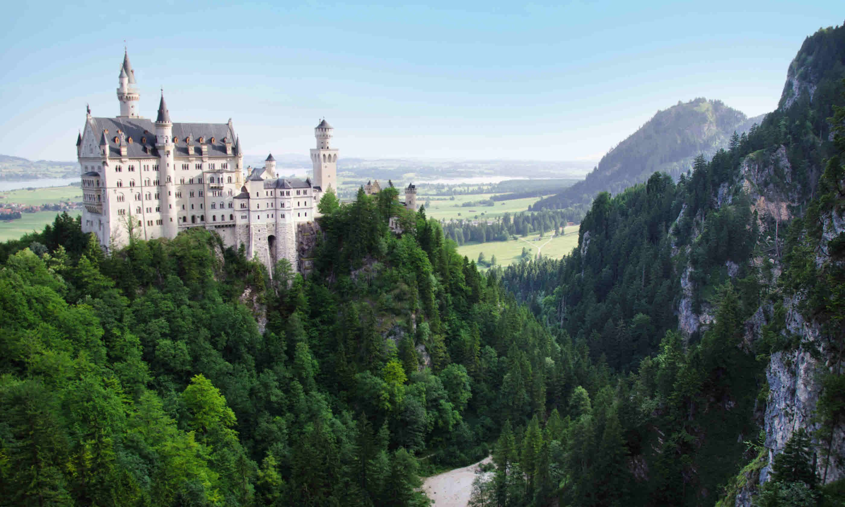 Neuschwanstein Castle that inspired Disney's Sleeping Beauty Castle (Neil S Price)
