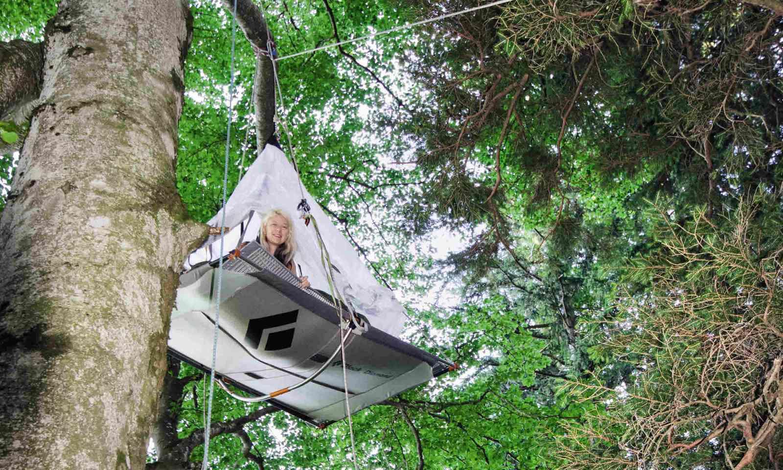Tree-hanging tents at Waldseilgarten Höllschlucht (Neil S Price)