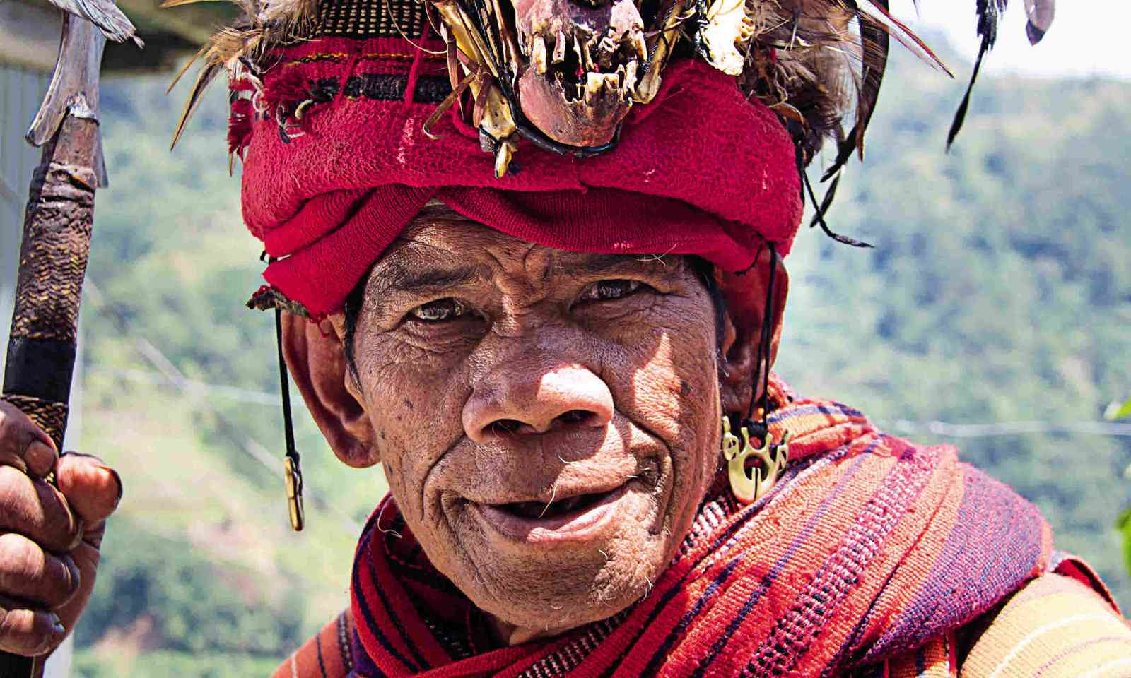 An Ifugao man in traditional dress (Nick Boulos)