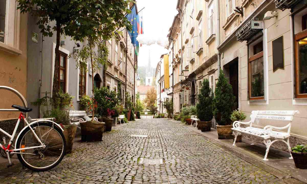 The street in Ljubljana, Slovenia (Shutterstock)
