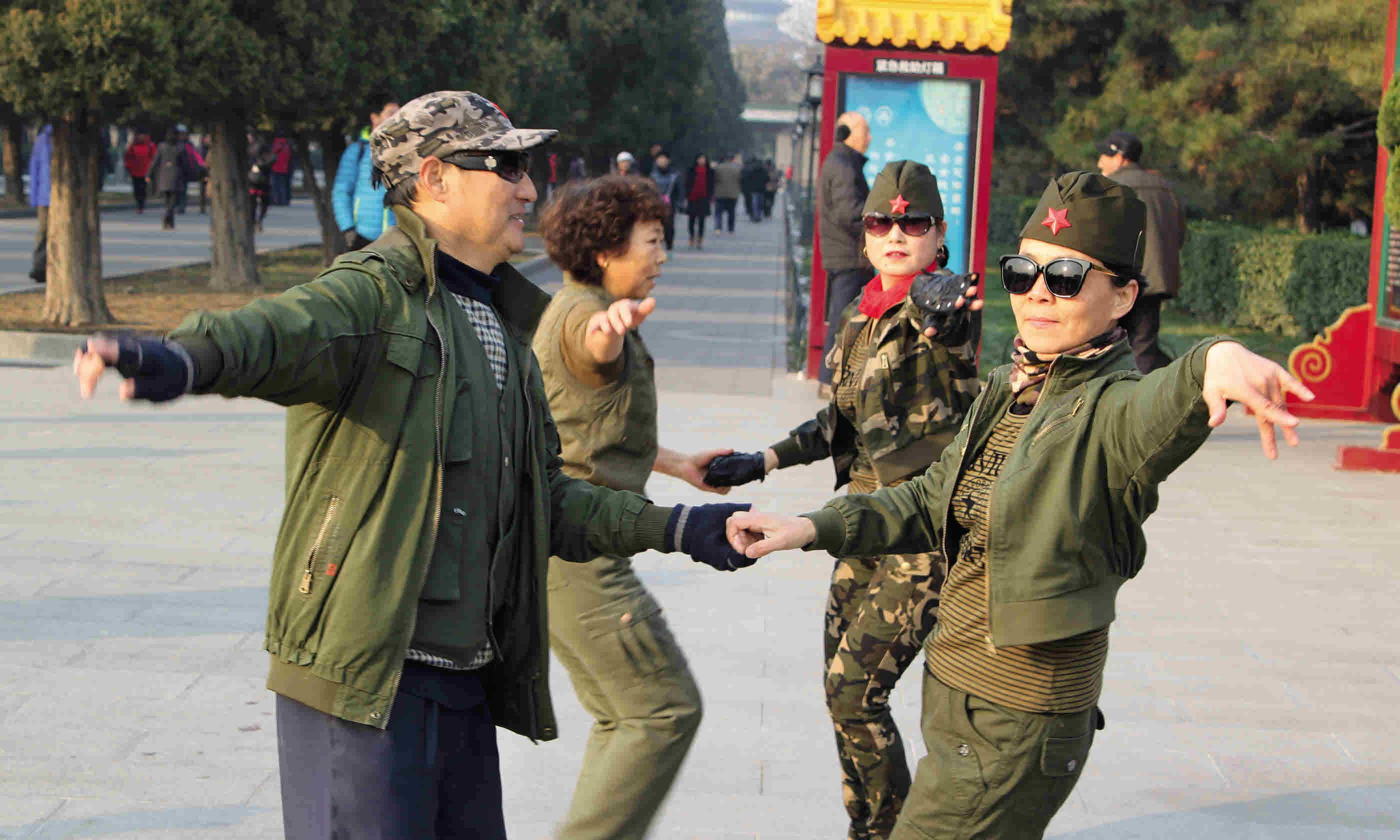 Lindy-hopping in Temple of Heaven Park (Tom Rhys)