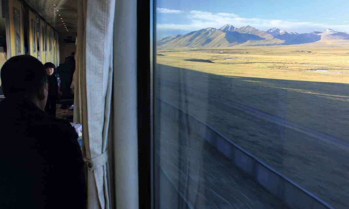 Gazing at the Gansu province from a train window (Tom Rhys)