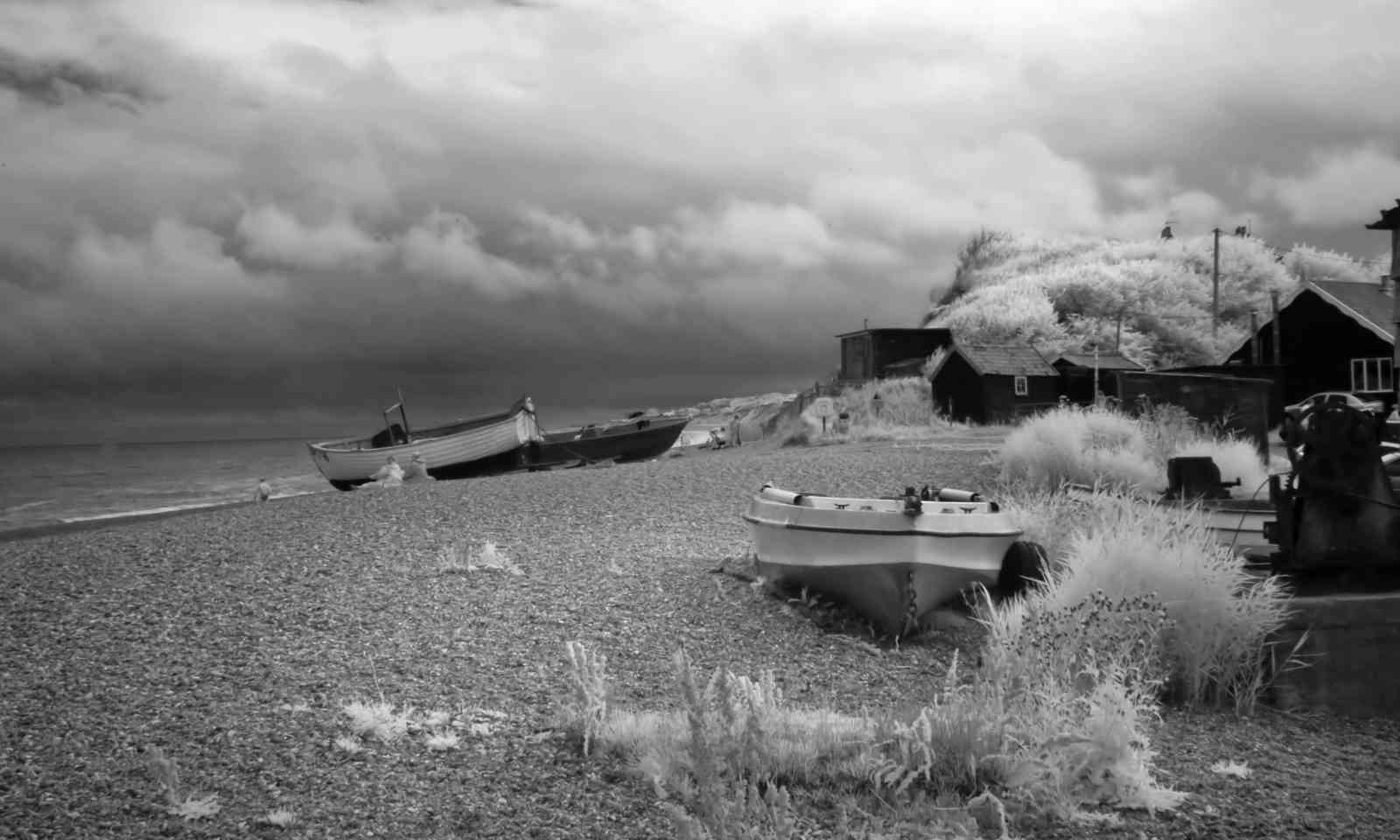 Infrared shot of Dunwich Beach (Shutterstock.com)