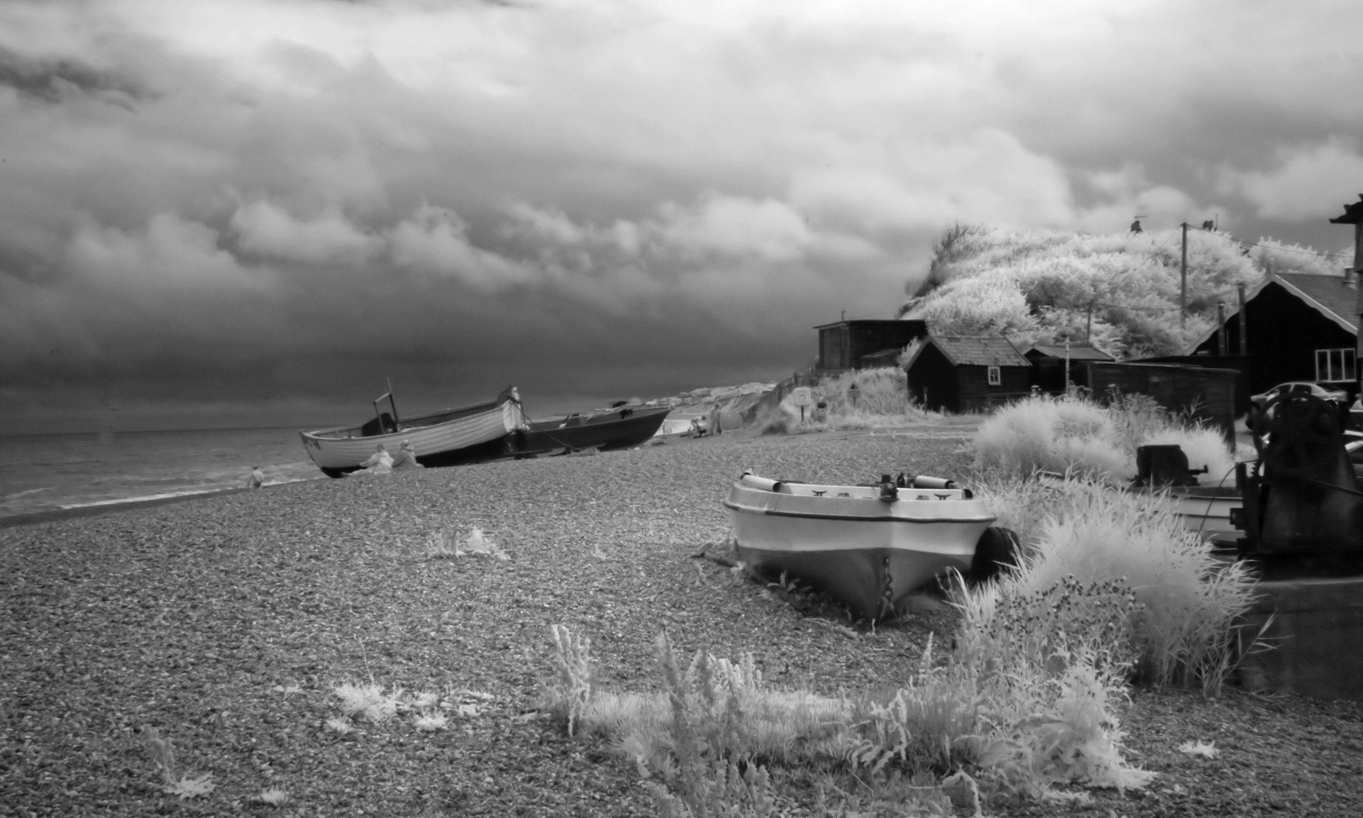 Infrared shot of Dunwich Beach (Shutterstock.com)