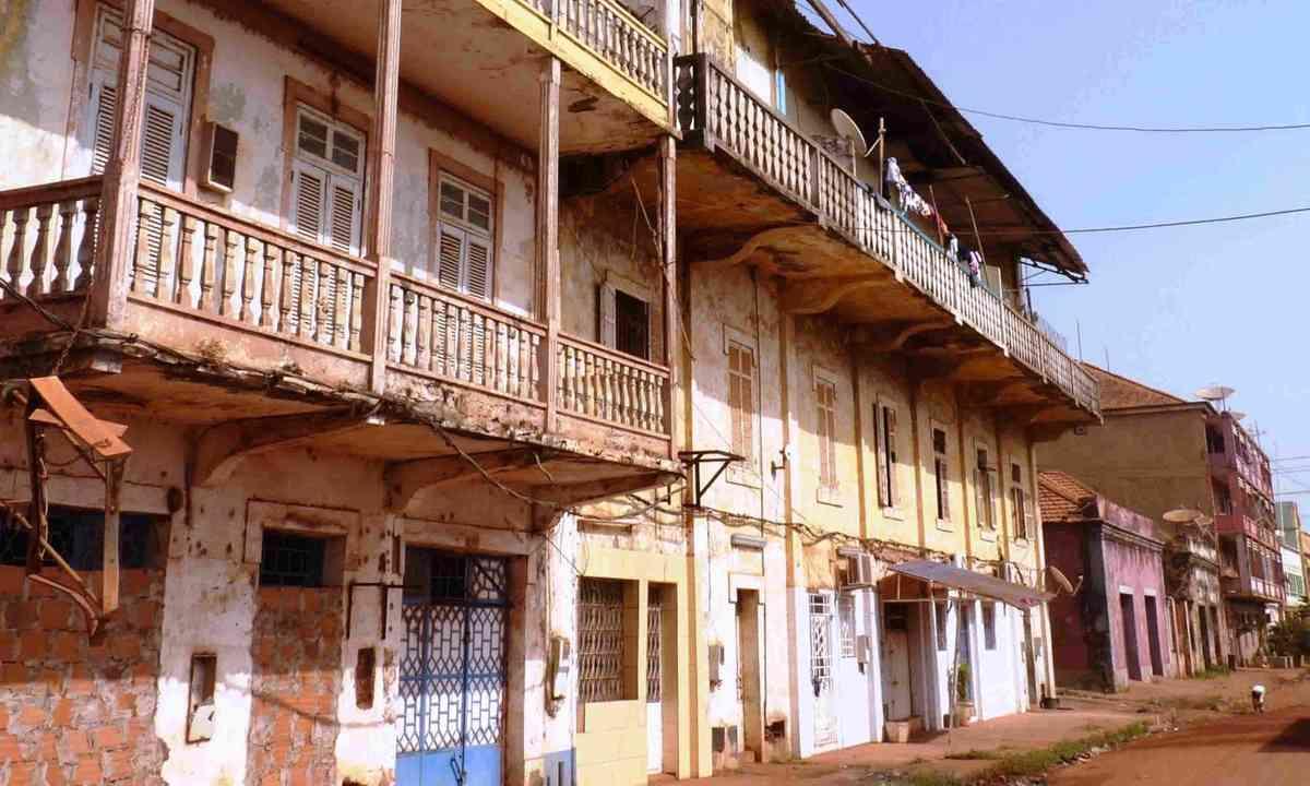 Street in Guinea-Bissau, Africa (Dreamstime)
