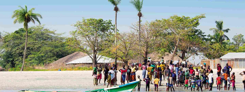 Beach scene in Guinea Bissau (Nick Boulos)