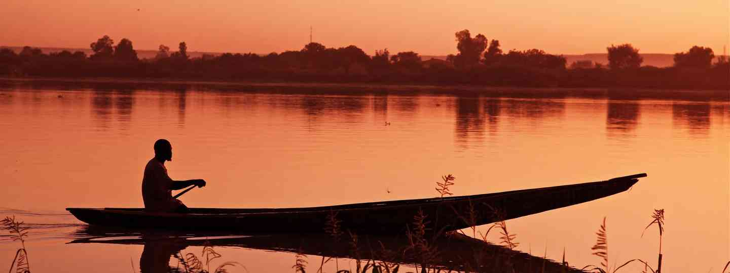 Sunset on the Niger River (Dreamstime)