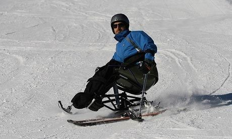 Disabled snowboarding