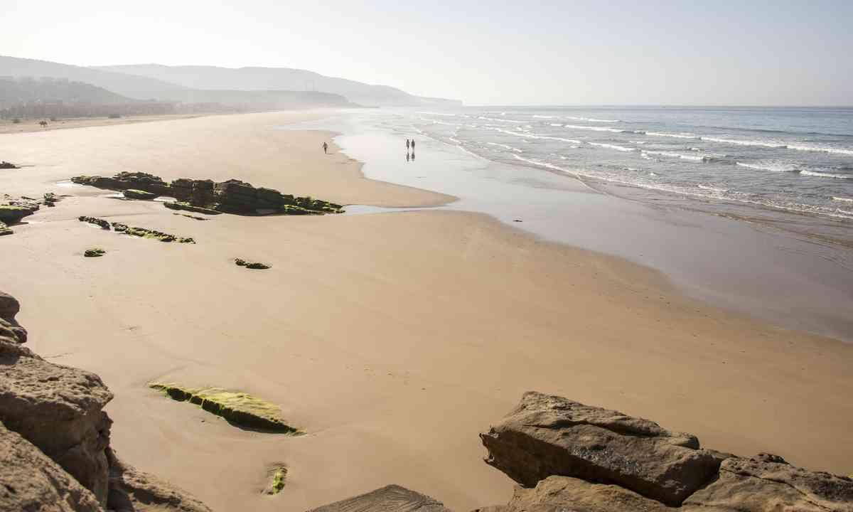 Sandy beach near Agadir, Morocco (Shutterstock.com)