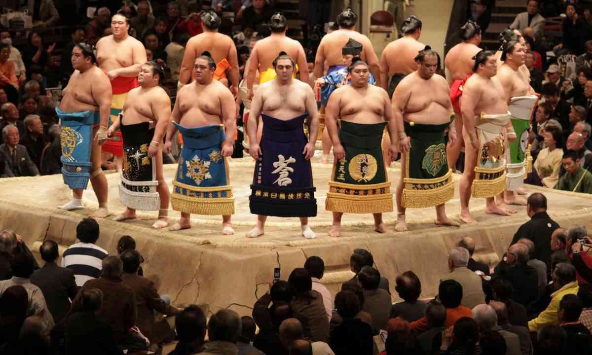 Sumo wrestlers (Shutterstock.com)