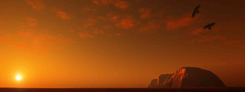 Uluru at sunset (Dreamstime)