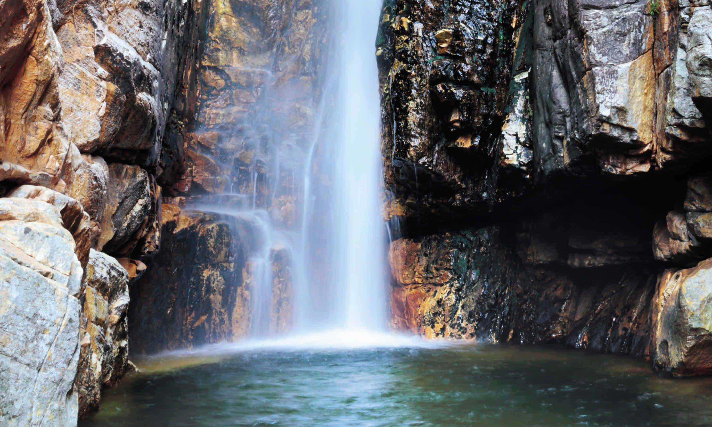 South africa discovering the fascinating landscapes - Crystal pools waterfall ...