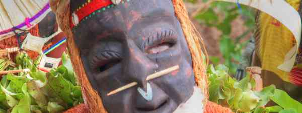 Masked dancer in Senegal (Simon Fenton)