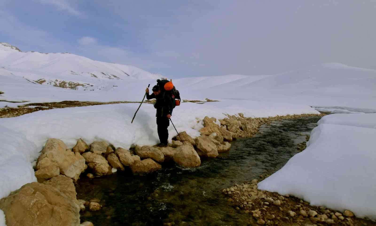 Setting off, at the source of the Karun river