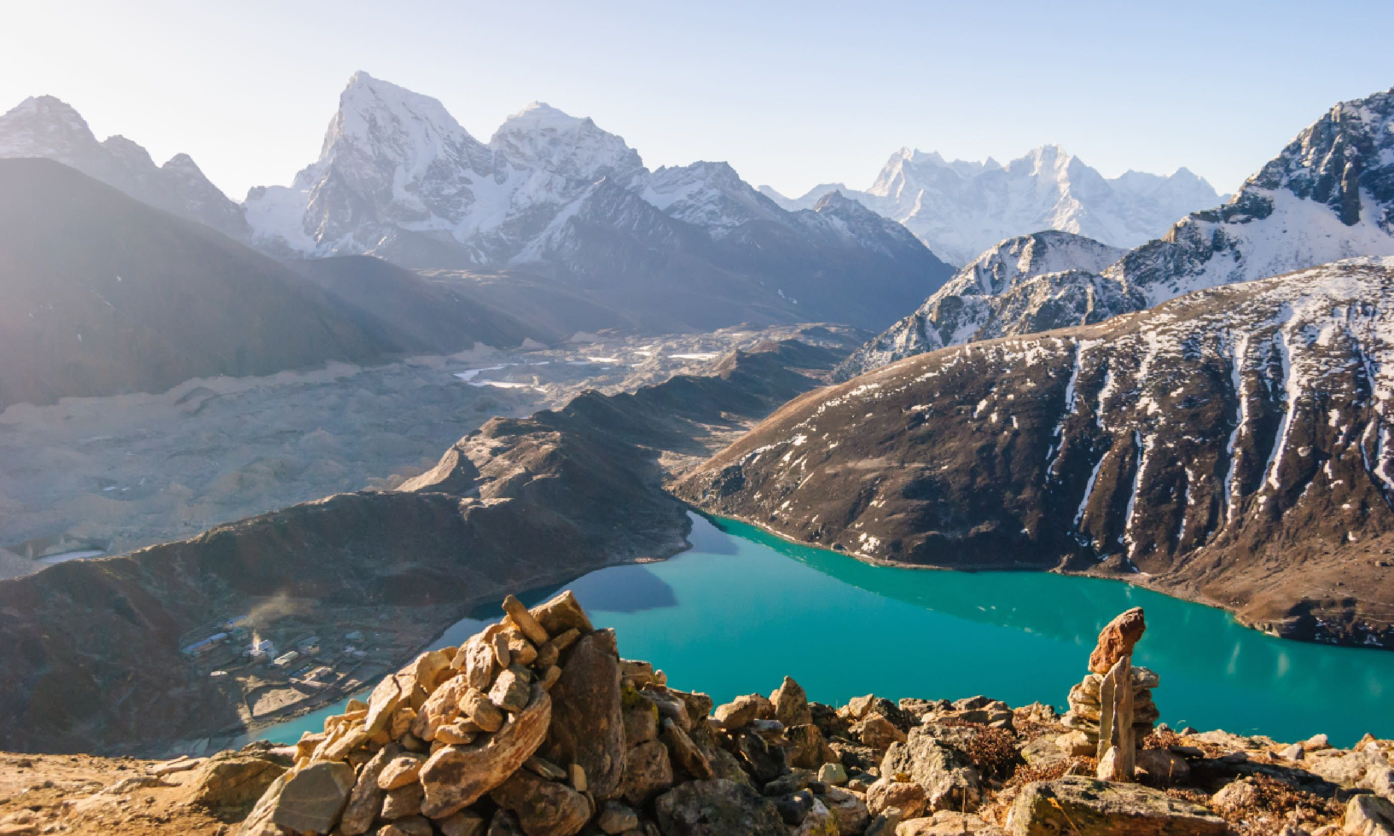 View from Gokyo Ri, at 5,360m in the Himalayas, Nepal (Shutterstock)