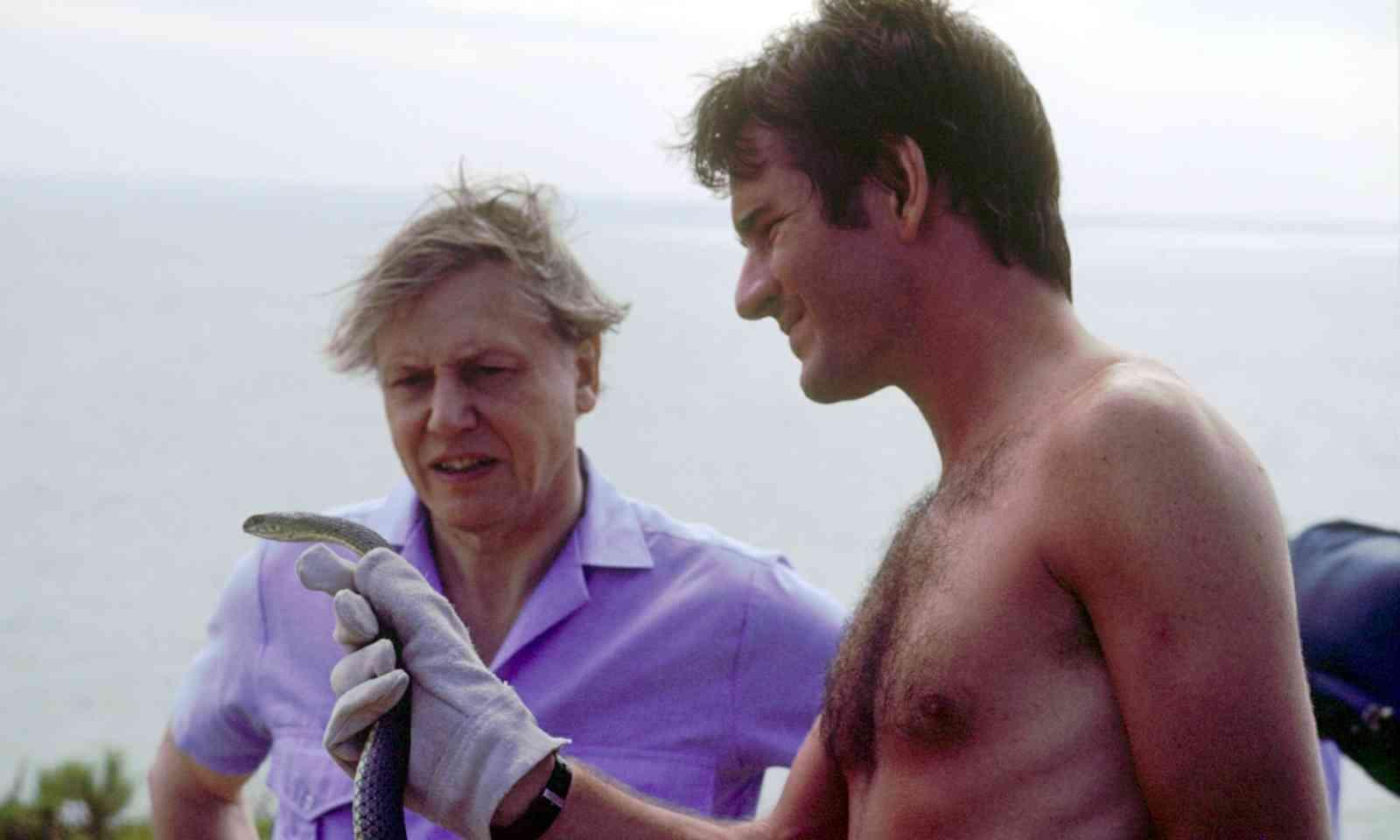 Filming with David Attenborough